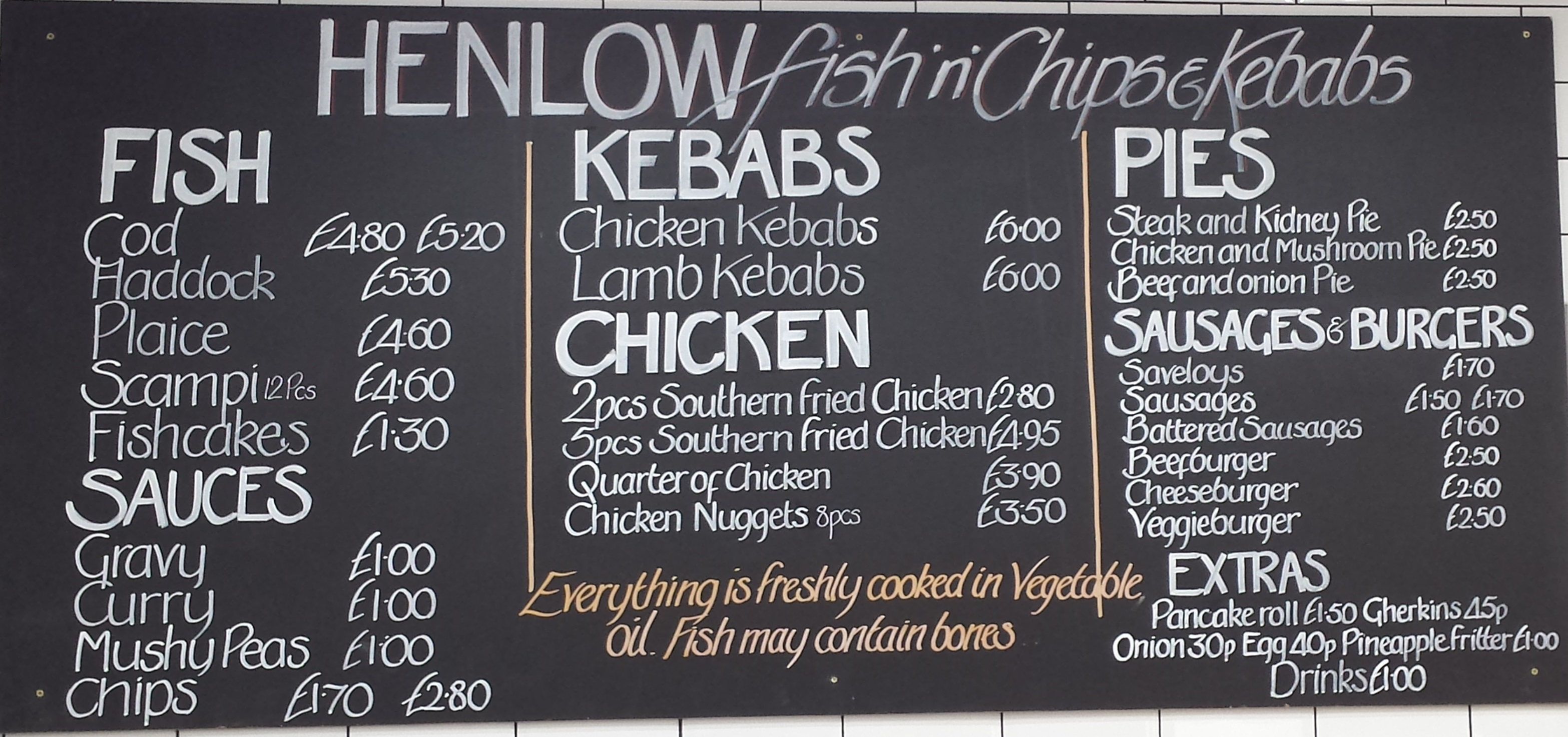 Love 39 s farm st neots fish and chips for Loves fish box menu